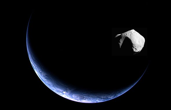 Asteroid flyby of Earth