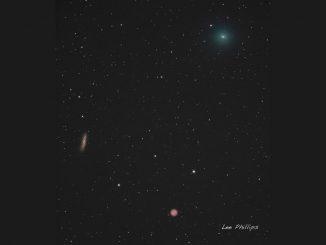 Comet 41P Passes the Owl Nebula
