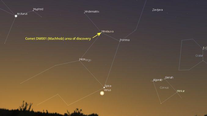 Comet Machholz (DM001) Discovery