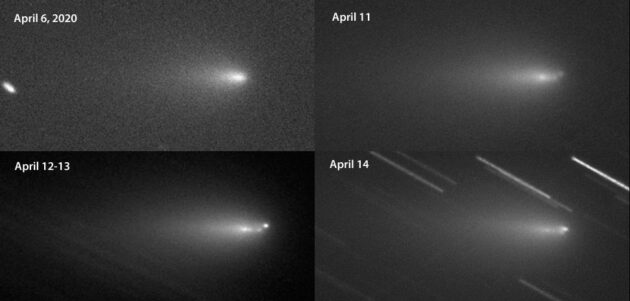 Comet Y4 ATLAS fragments