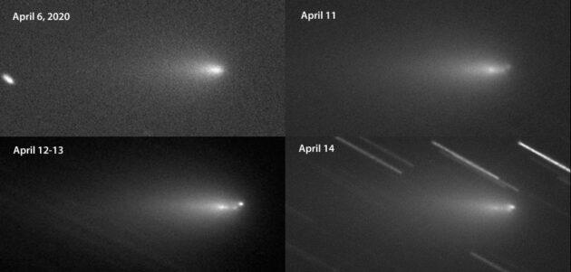 Comet Y4 ATLAS fragments